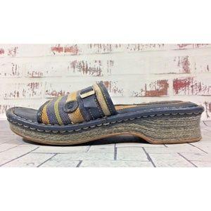 Born Wedge Heel Espadrille Sandals Size 6 Fiesta